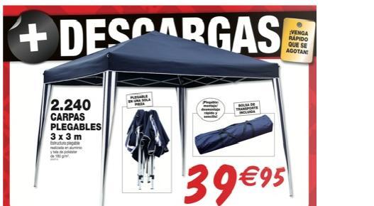Pergola plegable 3x3 40 euros for Mesa plegable bricodepot