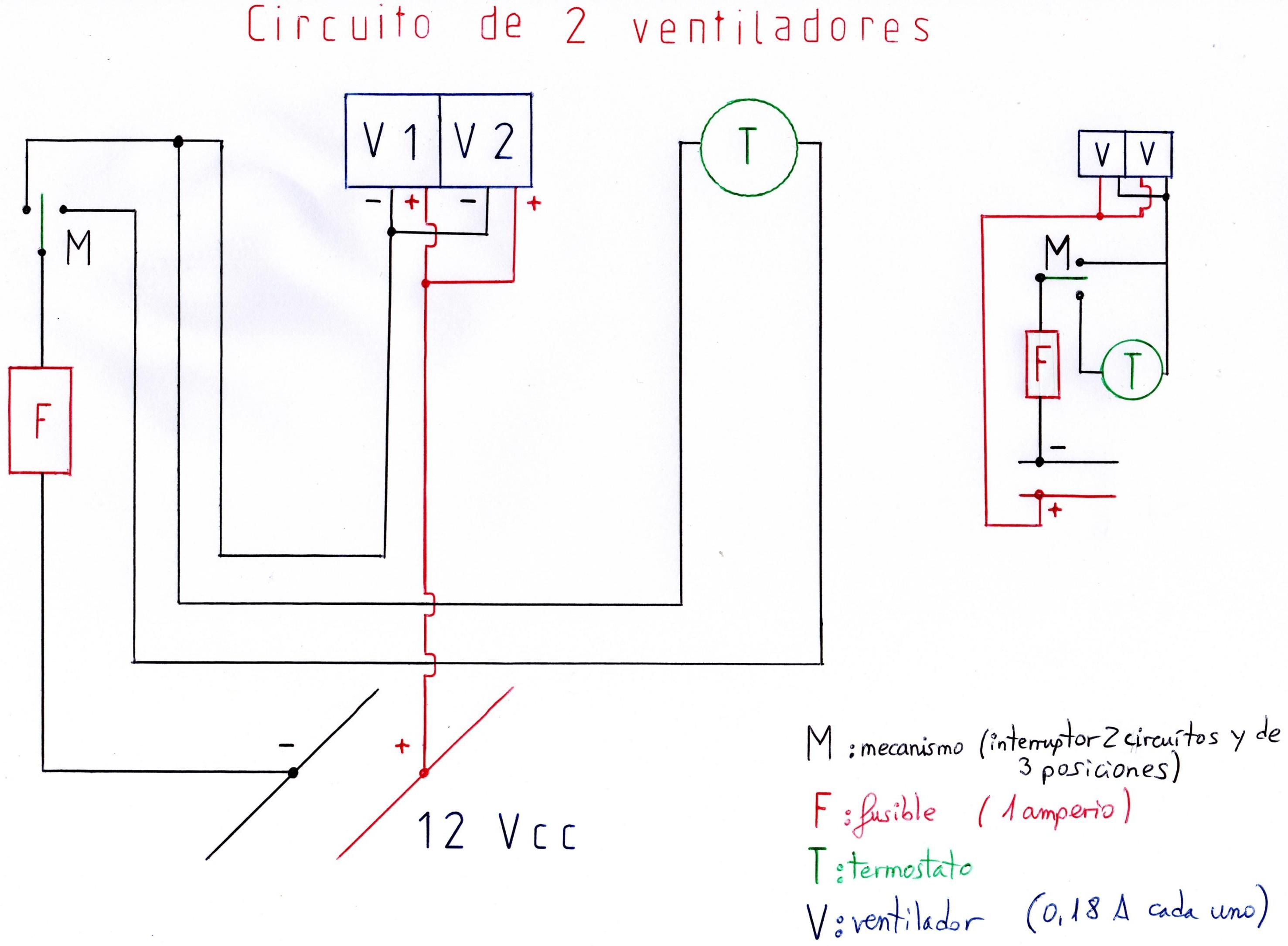 Circuito Ventilador : Ventiladores para nevera