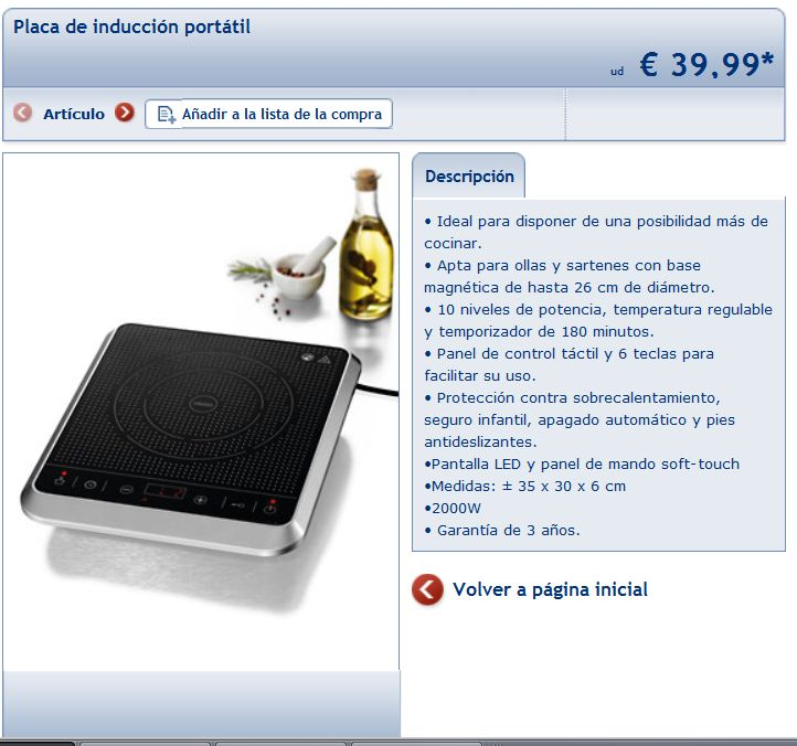 Lidl placa de inducci n port til a 39 39 99 forocoches - Placa induccion portatil ...